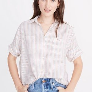 Madewell | Stitched Rainbow Striped Courier Shirt